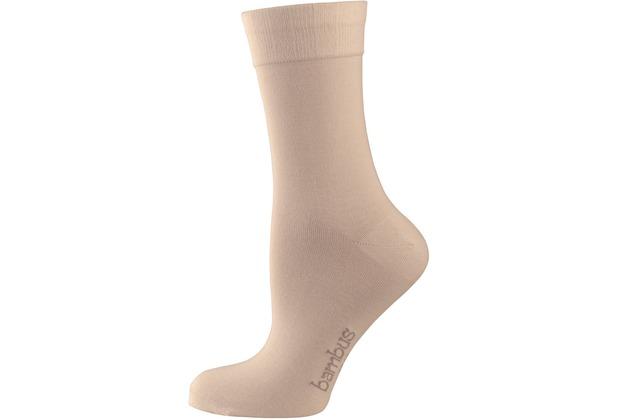 "nur die Damen \""Bambus Komfort Socke\"" beige 35-38"