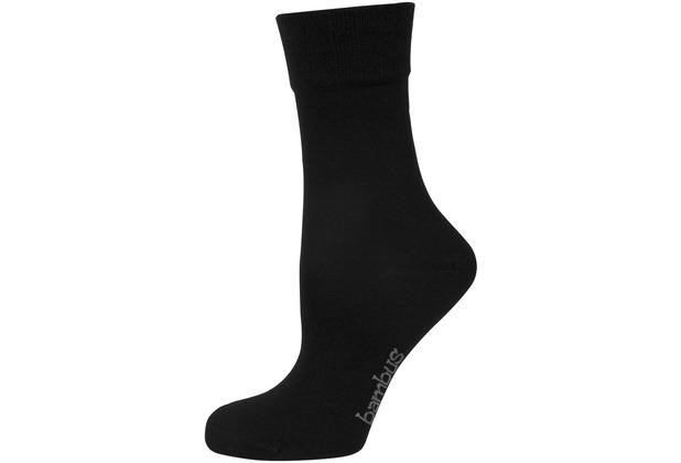 """nur die Damen \""""Bambus Komfort Socke\"""" schwarz 35-38"""
