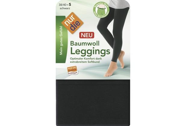 "nur die Damen \""Baumwoll Leggings\""-094 schwarz 38-40"
