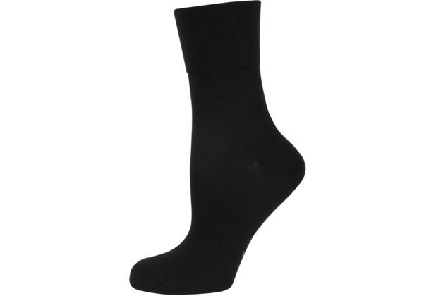 """nur die Damen \""""Feine Baumwolle Komfort Socke\"""" schwarz 35-38"""
