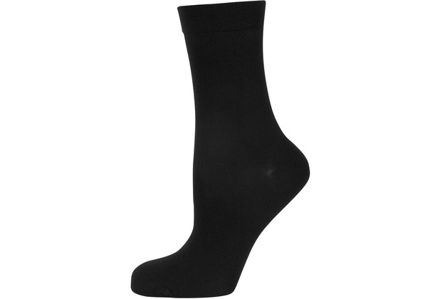 """nur die Damen \""""Feine Baumwolle Socke\"""" schwarz 35-38"""