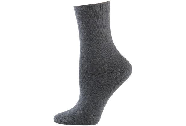 nur die Damen Ohne Gummi Socken 3er-346 graumel. 35-38