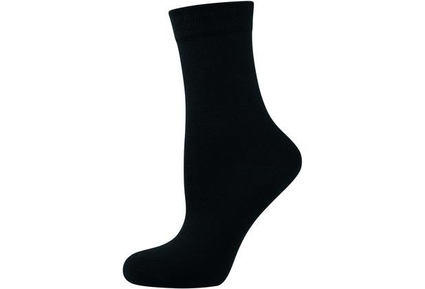 """nur die Damen \""""Ohne Gummi Socken 3er\"""" schwarz 35-38"""