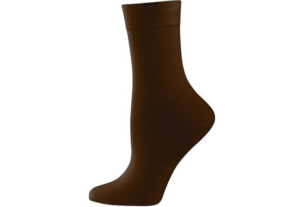 """nur die Damen \""""Passt Perfekt Socken 3er\"""" braun 35-38"""