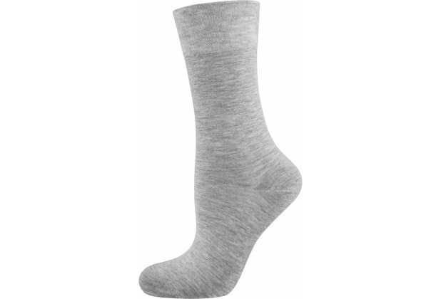 "nur die Damen \""Pflege & Komfort Socke\"" hellgraumel. 35-38"