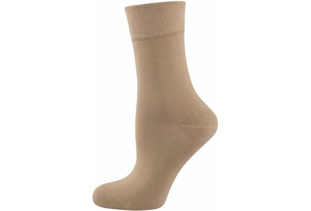 """nur die Damen \""""Pflegende Komfort Socke\"""" leinen 35-38"""