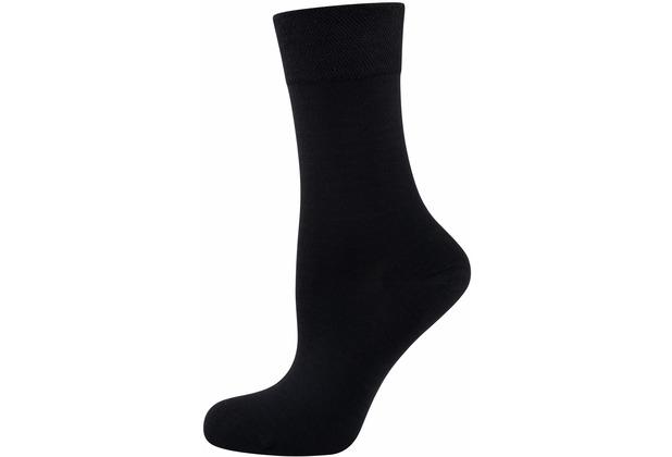 """nur die Damen \""""Pflege & Komfort Socke\"""" schwarz 35-38"""