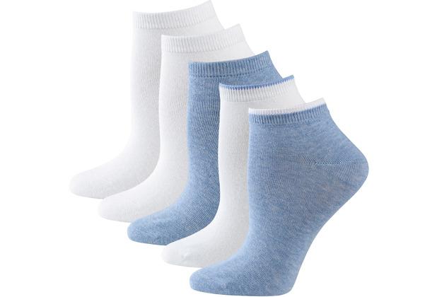 nur die Damen Sneaker Socken Classic 5er weiß 35-38