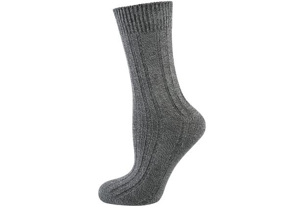 """nur die Damen \""""Bambus Warme Socke\"""" mittelgraumel. 35-38"""