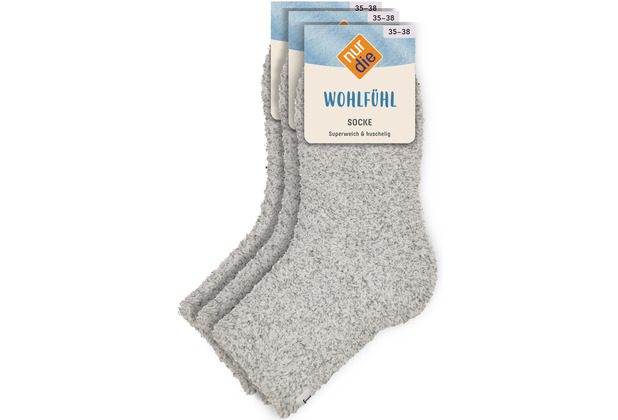 nur die Damen Wohlfühl Socke graumeliert 35-38