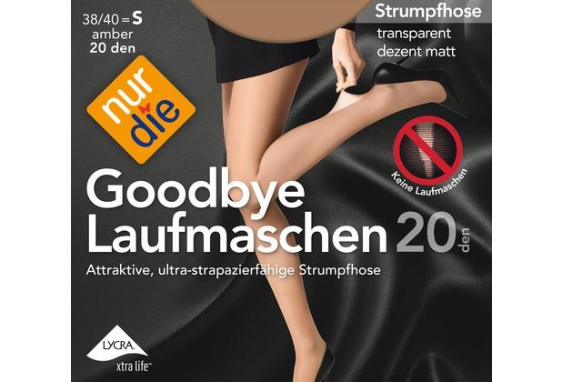 nur die Goodbye Laufmaschen 20 Strumpfhose amber 38-40=S