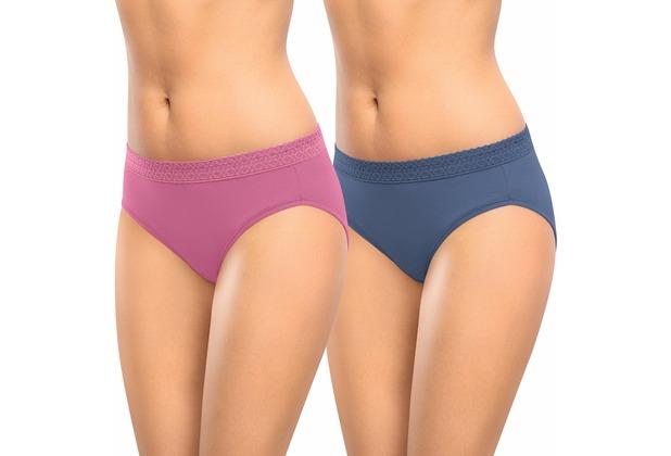 nur die Mode Doppel Slip-306 jeans-blau/altrosa 36-38