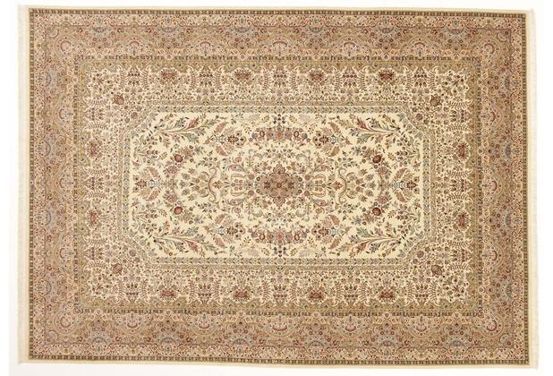 Oriental Collection Ilam-Teppich 245 x 347 cm beige stark gemustert