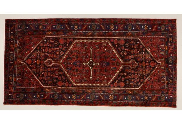 Oriental Collection Khamseh blau 76074, Perserteppich, 150 x 303 cm