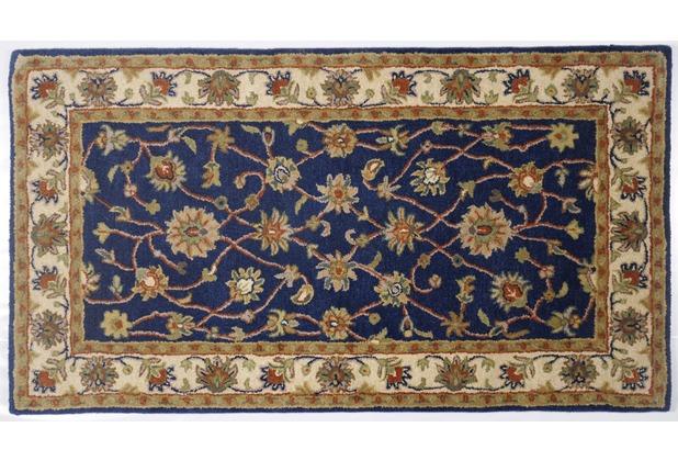 Oriental Collection Ziegler Teppich Royal Ziegler 503 blue / cream 60cm x 90cm
