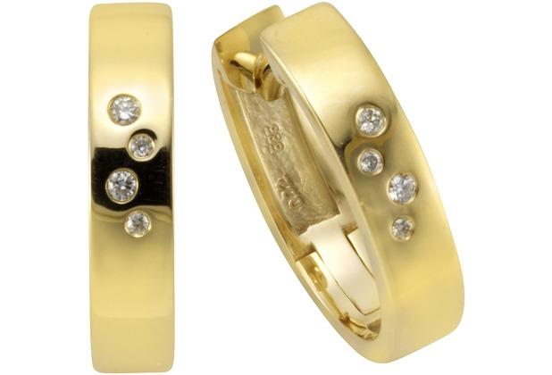 Orolino Creolen 585/- Gelbgold Brillant  11571