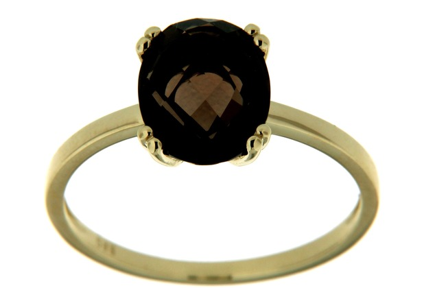 Orolino Ring 585/- Gelbgold Rauchquarz Oval  6229 56 (17,8)