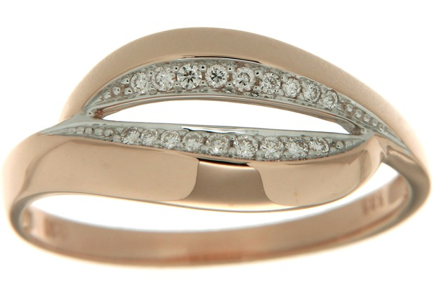 Orolino Ring 585/- Rotgold Brillant Rund rosa 6255 56 (17,8)