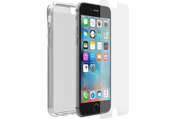 OtterBox Clearly Protected Skin, iPhone 6/6S + Alpha Glass