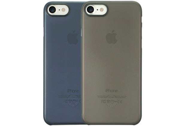 Ozaki O!Coat 0.3 Jelly Case 2 in 1 Set - Apple iPhone 7 / iPhone 8 / iPhone SE 2020 - schwarz & blau