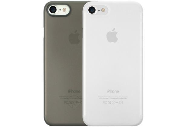 Ozaki O!Coat 0.3 Jelly Case 2 in 1 Set - Apple iPhone 7 / iPhone 8 / iPhone SE 2020 -schwarz & transparent