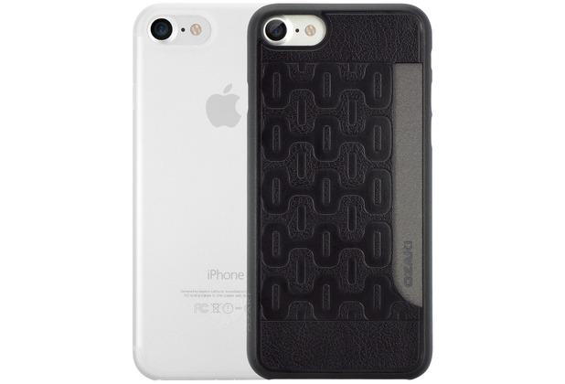 Ozaki O!Coat 0.3 Jelly + Pocket Case - Apple iPhone 7 / iPhone 8 / iPhone SE 2020 - schwarz & transparent