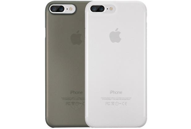 Ozaki O!Coat 0.4 Jelly Case 2 in 1 Set - Apple iPhone 7 Plus / iPhone 8 Plus - schwarz & transparent