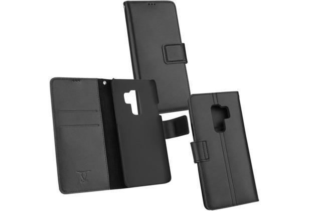 Fontastic OZBO Ledertasche Diary Piel schwarz NFC (RFID) Leseschutz, komp Sam Gal S9 Plus