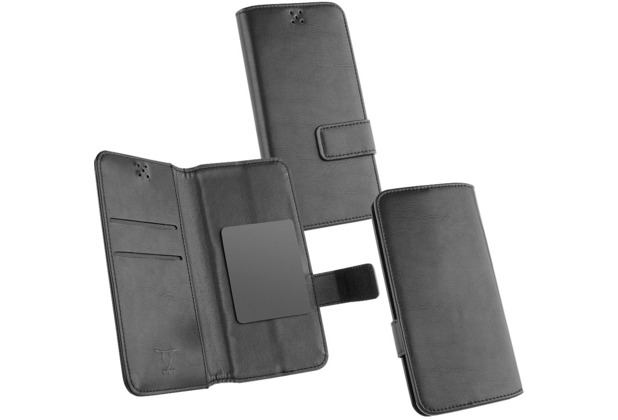 Fontastic OZBO PU Tasche Diary Business 2XL - schwarz - 142x72x10mm