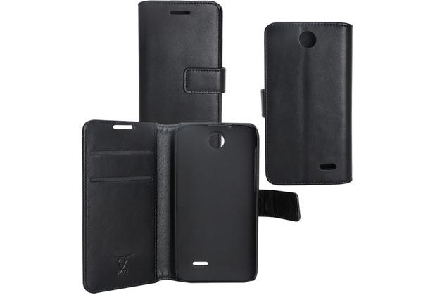 Fontastic OZBO PU Tasche Diary Business - schwarz - für HTC Desire 310