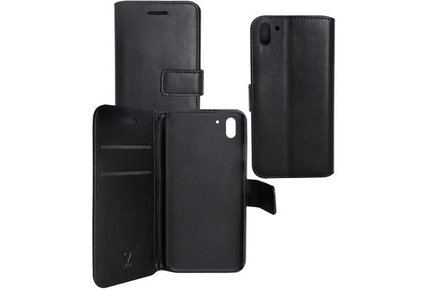 Fontastic OZBO PU Tasche Diary Business - schwarz - für HTC Desire Eye