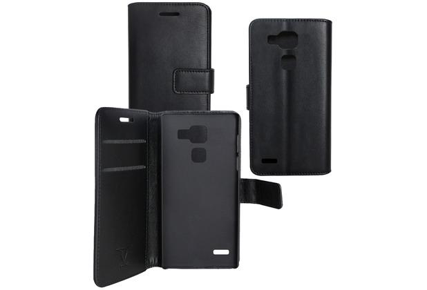 Fontastic OZBO PU Tasche Diary Business - schwarz - für Huawei Ascend Mate 7