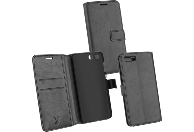 OZBO PU Tasche Diary Business schwarz komp. mit Huawei Honor 10 View