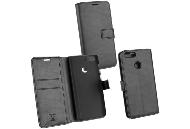 OZBO PU Tasche Diary Business schwarz komp. mit Huawei Honor 7X