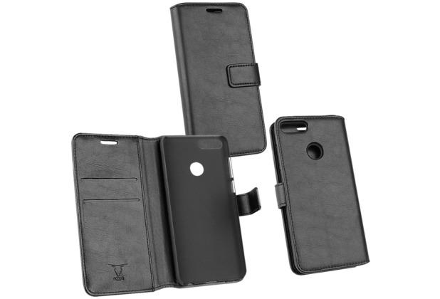 OZBO PU Tasche Diary Business schwarz komp. mit Huawei P Smart (2018)