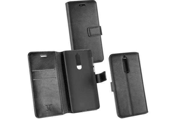 Fontastic OZBO PU Tasche Diary Business schwarz komp. mit Nokia 8
