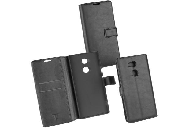 OZBO PU Tasche Diary Business schwarz komp. mit Sony Xperia XA2 Ultra