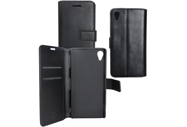Fontastic OZBO PU Tasche Diary Business - schwarz - für Sony Xperia Z3+