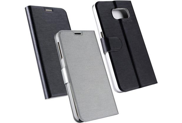 Fontastic OZBO PU Tasche Diary Chameleon - schwarz/silber für Samsung Galaxy S6