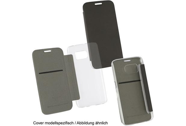 "Fontastic OZBO PU Tasche \""Diary Clear\"" - schwarz - für Samsung Galaxy S7 edge"