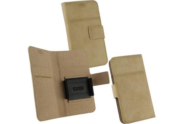 Fontastic OZBO PU Tasche Diary Hola 3XL - sand - Universal 153x78x9