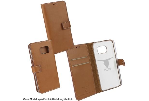 "Fontastic OZBO PU Tasche \""Diary Leda\"" - braun - für Samsung Galaxy S7 Edge"