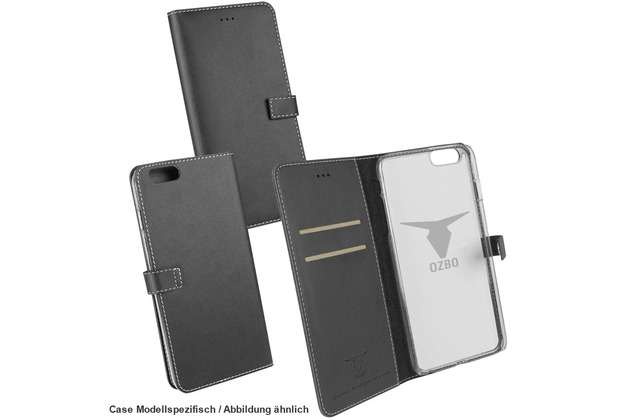 "Fontastic OZBO PU Tasche \""Diary Leda\"" - schwarz - für Samsung Galaxy S7"