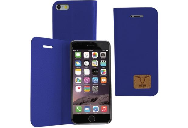 Fontastic OZBO PU Tasche Diary Slim - blau - für Apple iPhone 6+/6s+