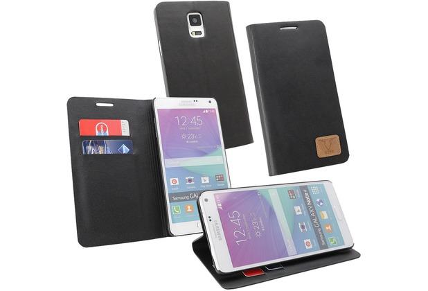 Fontastic OZBO PU Tasche Diary Slim - schwarz - für Samsung Galaxy Note 4