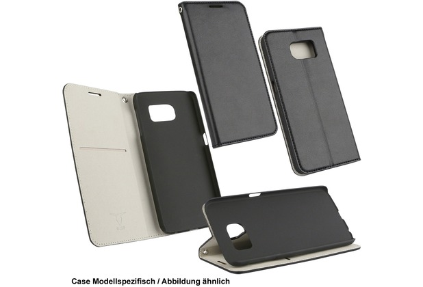 Fontastic OZBO PU Tasche Diary Supra - schwarz/grau für Apple iPhone 6/6s