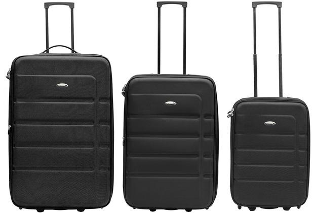 Packenger Easy Traveller Koffer 3er-Set, Schwarz