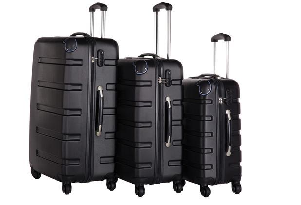 Packenger Koffer 3er-Set Marina M, L+XL in Schwarz