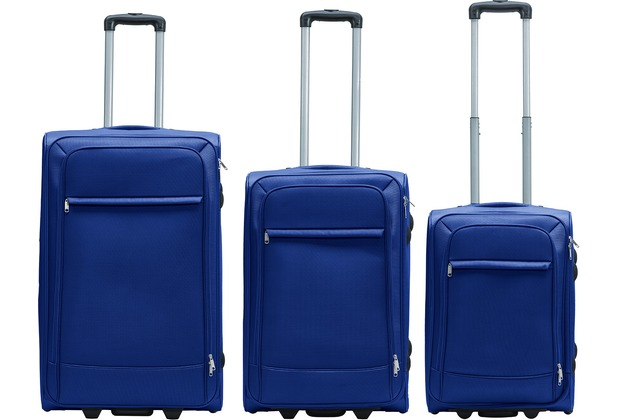Packenger Lite Business Textilkoffer 3er-Set, Dunkelblau