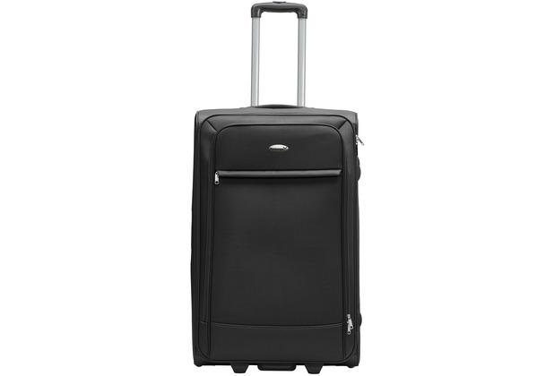 Packenger Lite Business Textilkoffer Größe L, Schwarz